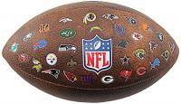 NFL Official Size. Throwback Football  32 Team Logo