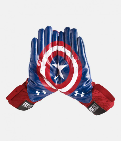 Receivergloves, Highlight Captain America,  Under Armour - Bild 1
